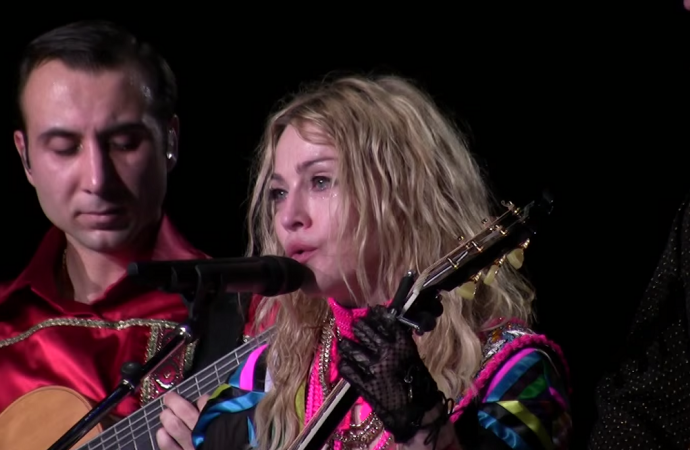 Madonna cries during the show